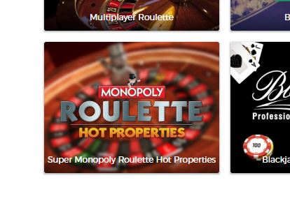 Super Monopoly Roulette Hot Properties